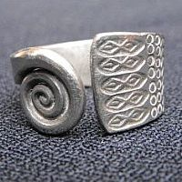 Photo of our Wide spiral ring