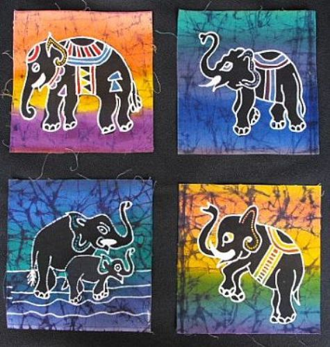 Photo of our Four elephant squares