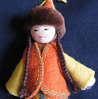 Photo 2 of our Lola Felt Doll