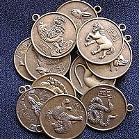 Photo 1 of our Set of 12 Chinese horoscope pendants