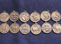 Photo 3 of our Set of 12 Chinese horoscope pendants