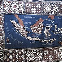Photo of our Batik sampler with map