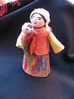 Photo of our Mirkul (felt doll with baby in her arms)