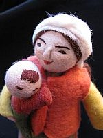 Photo 2 of our Mirkul (felt doll with baby in her arms)