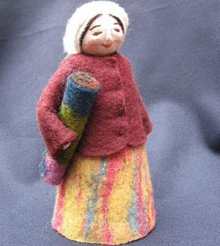 Photo of our Dinara (felt-maker doll)