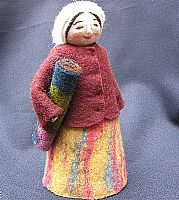 Photo 1 of our Dinara (felt-maker doll)