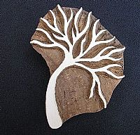 Photo of our Thorn tree printing block
