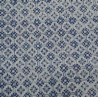Blue and white Batik floral squares