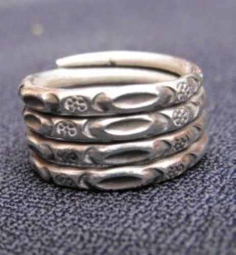 Photo of our Spiralling silver ring