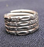 Photo 1 of our Spiralling silver ring