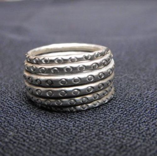 Photo of our Silver spiralling ring
