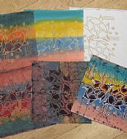 Photo of our Batik Process Samples - Two Turtles
