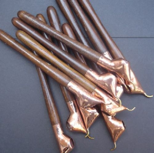 Photo of our Ten long handled cantings with teak handles