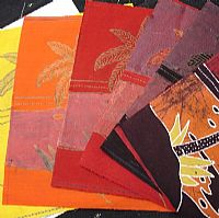 Photo of our Batik Process Samples - Javanese village scene