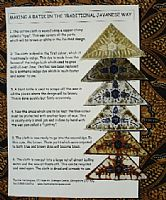 Traditional Batik Process card
