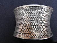 Photo 3 of our Silver basket weave bracelet