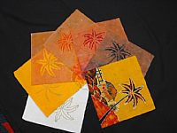 Photo 2 of our Batik Process Samples - Javanese village scene