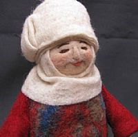 Photo of our Jamilya (felt Baboushka doll)
