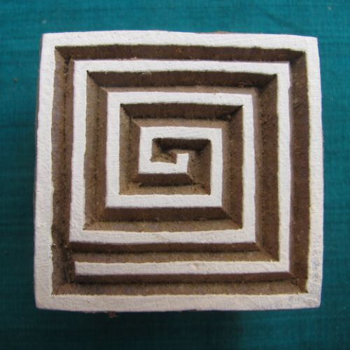 Photo of our Square spiral printing block