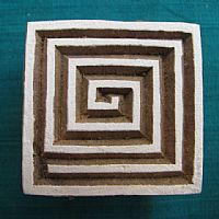 Photo of our Maze square printing block