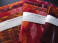 Photo 1 of our Terracotta and Red Ikat 4 fat quarters