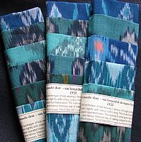 Photo 1 of our Blue and green ikat sample set