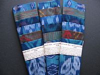 Photo 2 of our Blue and green ikat sample set