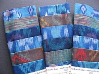 Photo 3 of our Blue and green ikat sample set