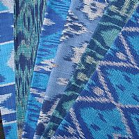Photo 4 of our Blue and green ikat sample set
