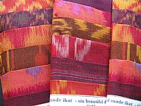 Photo 1 of our Red and bronze ikat sample set