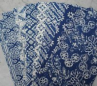 Photo 2 of our Blue and White Batik 4 fat quarters