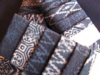 Photo 2 of our Indigo Batik sample set