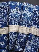 Photo of our Blue and White Batik sample set