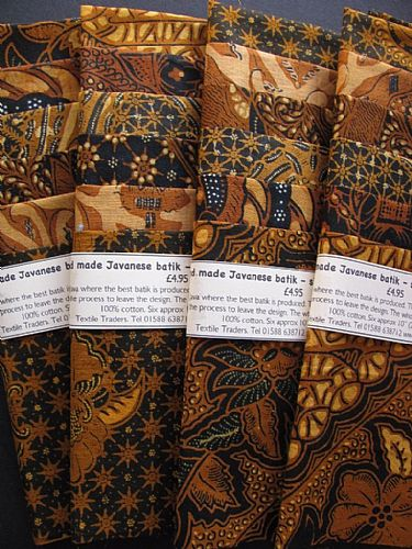Photo of our Traditional Javanese Batik sample set