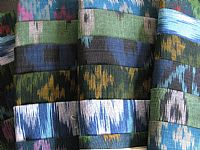 Photo 8 of our Blue and green ikat sample set