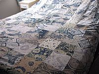 Photo 1 of our Double patchwork bedcover in vintage batik