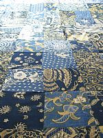 Photo 1 of our Double patchwork bedcover in vintage batik.