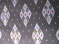 Photo 5 of our Black diamonds ikat fabric