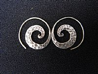 Photo 1 of our Beaten Spiral earrings