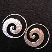 Beaten Spiral earrings
