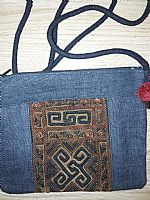 Photo 4 of our Hemp hand embroidered shoulder bag