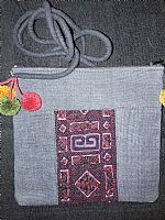 Photo 5 of our Hemp hand embroidered shoulder bag