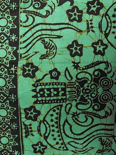 Photo of our Bali batik apple green