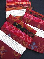 Photo of our Terracotta and Red Ikat 4 fat quarters