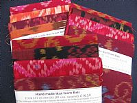 Photo 5 of our Terracotta and Red Ikat 4 fat quarters