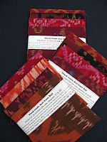 Photo 6 of our Terracotta and Red Ikat 4 fat quarters