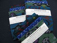 Photo 5 of our Blue and Green Ikat 4 fat quarters