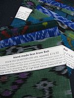 Blue and Green Ikat 4 fat quarters