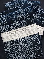 Photo 3 of our Indigo Batik Four 15 inch squares