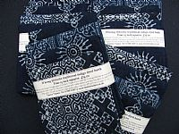 Photo 5 of our Indigo Batik Four 15 inch squares